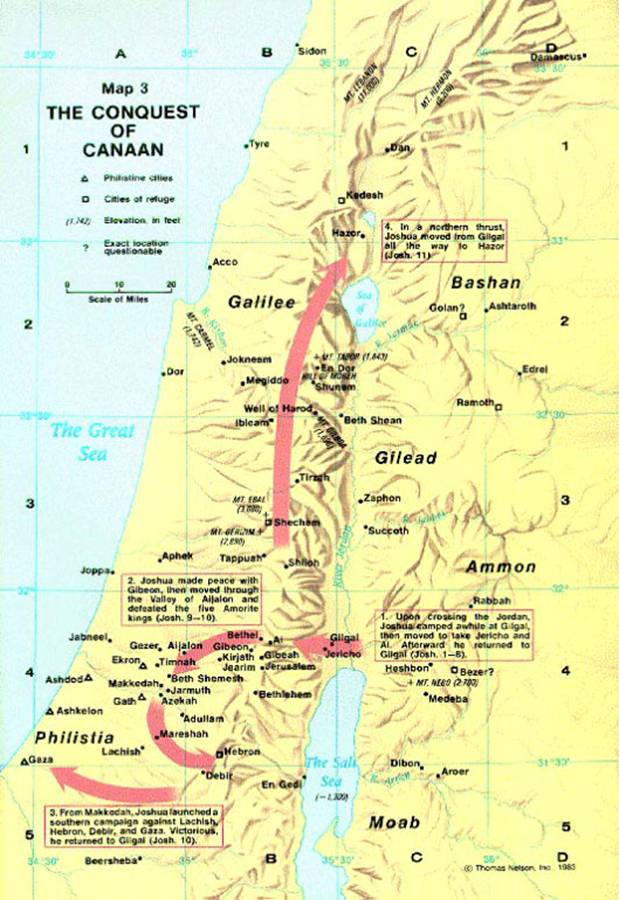 a discussion of the failure of israel to enter the land of canaan Notebook: the conquest of canaan he was one of the twelve who had spied out the land before israel refused to enter  this was a failure on the part of israel.